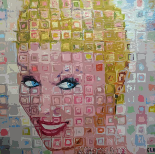 Kylie Minogue Acrylic on board by Kendrea Rhodes for Think Pink exhibition ©2007 Kendrea Rhodes