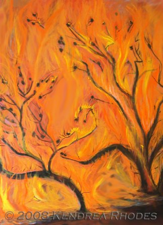 Wildfire - oil on canvas ©2008 Kendrea Rhodes all rights reserved www.kendreart.com
