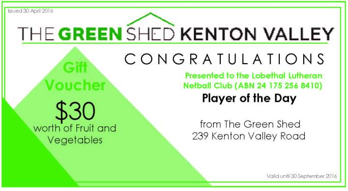The Green Shed Voucher created by Kendrea Rhodes